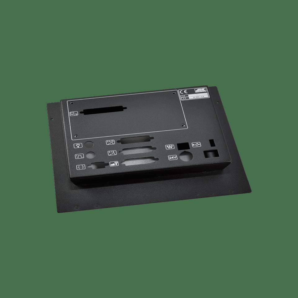 Monitorgehäuse aus Blech fertig lackiert in schwarz mit Schächten und Steckplätzen