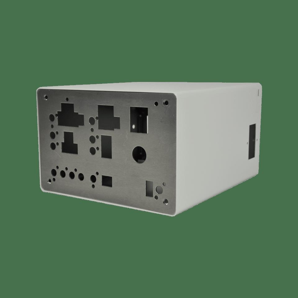 Edelstahlgehäuse für Medizintechnik in grau mit Steckplätzen
