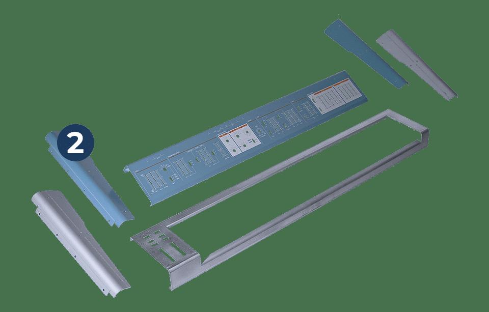 Komponenten erste Produktion, hier Metallteile für ein Keyboard zum Prototypenbau
